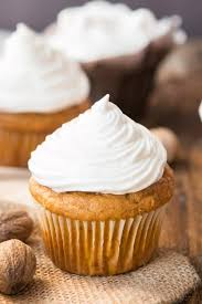 maple frosting pumpkin cupcakes with 7 minute frosting oh sweet basil