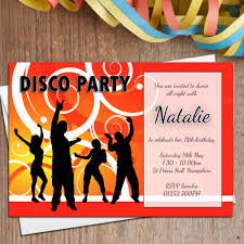 14th birthday party invitations 10 personalised disco birthday party invitations n2