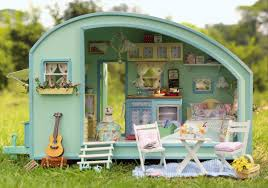 diy miniature model kit wooden doll house unique big size house