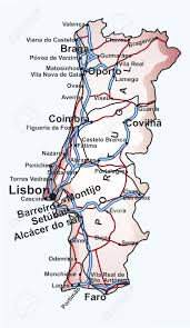Cascais Portugal Map Road Map Of Portugal With The Main Cities And Towns Highways