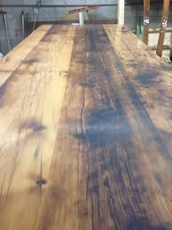 Laminate Floor Bubbling Harvest Table From Dillinger Distillery By Oldwoodsale