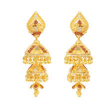 images of earrings in gold bell shape gold earrings earrings type products