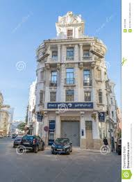 french baroque architecture building in casablanca editorial stock