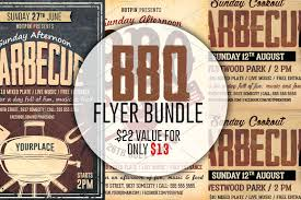 grill bbq cookout flyer template flyer templates creative market