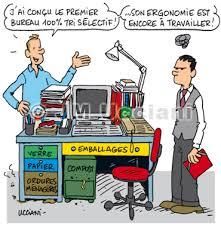 dessin humoristique travail bureau jm ucciani dessinateurprojet pour le tri sélectif au bureau