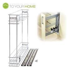 Pull Out Wire Baskets Kitchen Cupboards by 150mm Pull Out Wire Basket Kitchen Larder Base Unit Cupboard