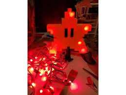 lighted super mario bros pixel star christmas tree topper by