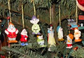 snow white and the seven dwarves ornaments bone china