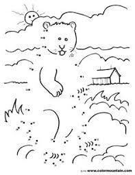 groundhog scratching head coloring groundhog