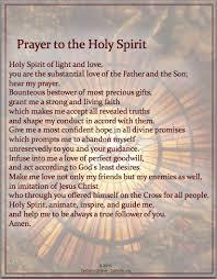 prayers prayer to the holy spirit holy spirit free and