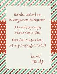 elf on the shelf santa has sent me here letter