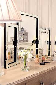 folding dressing table mirror dressing table mirror modern clear venetian tri fold free standing