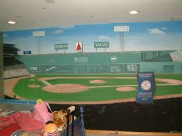 sport room murals red sox green monster mural