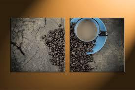 Best Online Home Decor 2 Piece Brown Canvas Kitchen Coffee Wall Art