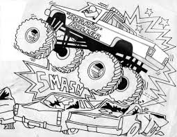 bigfoot monster truck coloring pages aecost net aecost net