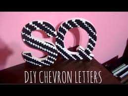 diy chevron letters youtube