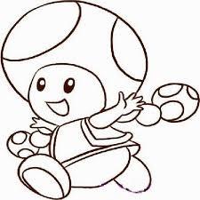 marvellous mario outline mushroom star luigi face kart toad