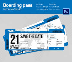 Boarding Pass Save The Date Boarding Pass Invitation Template 36 Free Psd Format Download