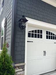 cape cod style home garage door color matching front door