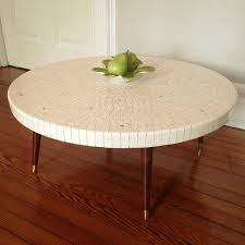 tile top coffee table mid century modern round pink tile top coffee table urban dwellers