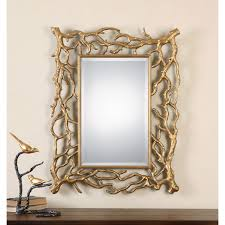 sequoia gold tree branch mirror uttermost wall mirror mirrors home