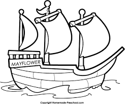 sailing ships clipart mayflower pencil and in color