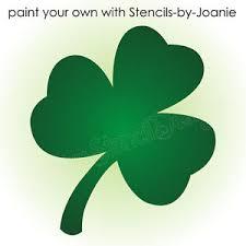 stencil shamrock flower shape lucky irish celtic 4 leaf clover