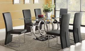 Glamorous Glass Dining Room Sets For   In Dining Room Table - Black glass dining room sets