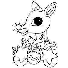 20 free printable reindeer coloring pages