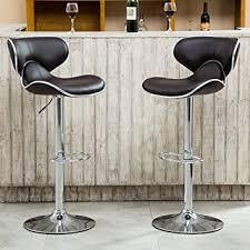 Bar Stool Sets Of 2 Amazon Com Roundhill Furniture Masaccio Cushioned Leatherette
