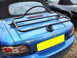 mazda is made by mazda mx5 luggage and boot racks wide range
