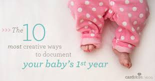 ideas for baby s birthday the 10 most creative ways to document your baby s year