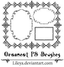 ornament frames decorative photoshop brushes brushlovers
