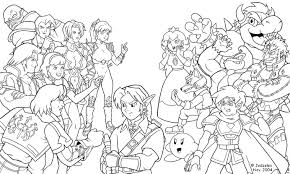 super smash bros wii coloring pages pages glum