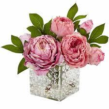 peony arrangement peony in glass vase floral arrangement jcpenney