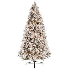 fast shape flocked ponderosa pre lit tree 9 hobby
