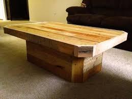 Pedestal Coffee Table Diy Pedestal Pallet Coffee Table