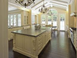 Natural Stone Backsplash Tile by Country Kitchen Decor Themes Oak Cabinet High Cabinets White