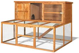 Rabbit Hutch With Detachable Run Connected A Rabbit Hutch A Run Ramps And Tunnels