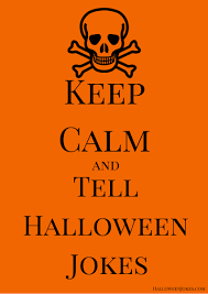 keep calm and tell halloween jokes poster pb 1