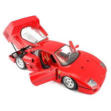 model f40 bburago 1 18 f40 die cast model car throttle shop