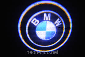 logo bmw m neon car logo