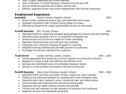 Forklift Experience On Resume Extremely Ideas Forklift Operator Resume 11 Amazing Fork Lift