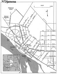 map n ndjamena city map n039djamena mappery