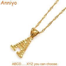 necklace initial pendants images Anniyo small letters necklaces for women girls gold color initial jpg