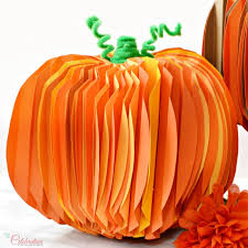 how to build pleated paper pumpkins for thanksgiving