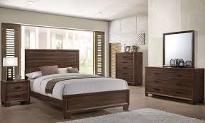 Transitional Bedroom Furniture by Brandon 205321 Warm Brown Transitional Bedroom Set Coaster