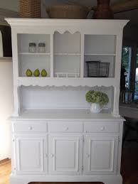 shabby cottage french country farmhouse white hutch buffet
