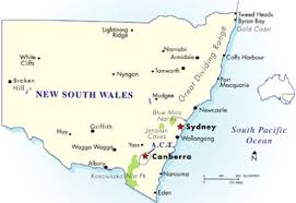map of new south wales australia trips new south wales transport info