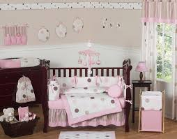 pink and brown modern polka dot baby bedding set only 189 99